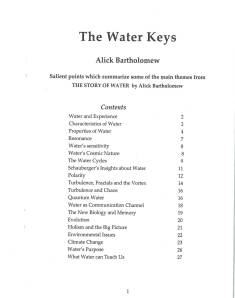WaterKeysContents