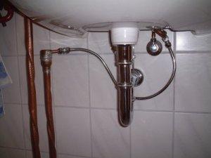 pipe under sink